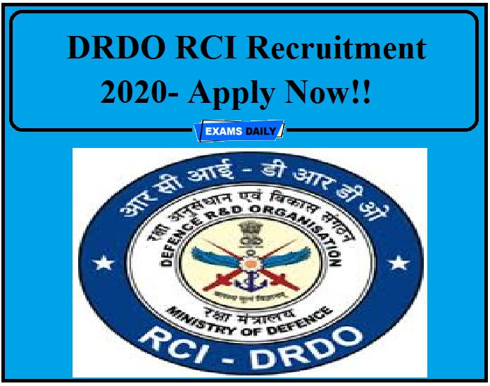 DRDO RCI Recruitment 2020.Research Centre Imarat (RCI) is a premier laboratory of Dr APJ Abdul Kalam Missile Complex, DRDO. It has released the official notification for the post of Trade Apprentices for tenure of one year. So, the interested candidates can use this opportunity to work in DRDO Research Centre Imarat. Now let's see about the eligibility criteria and details of this post in this page.
