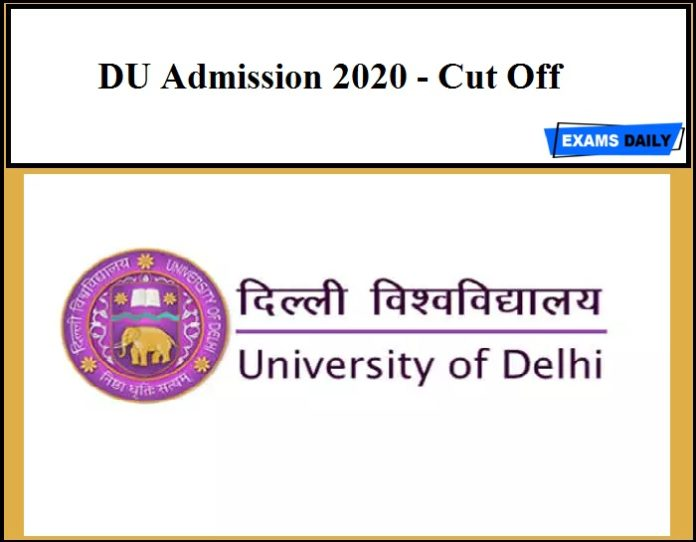 DU Admission 2020 - Cut Off