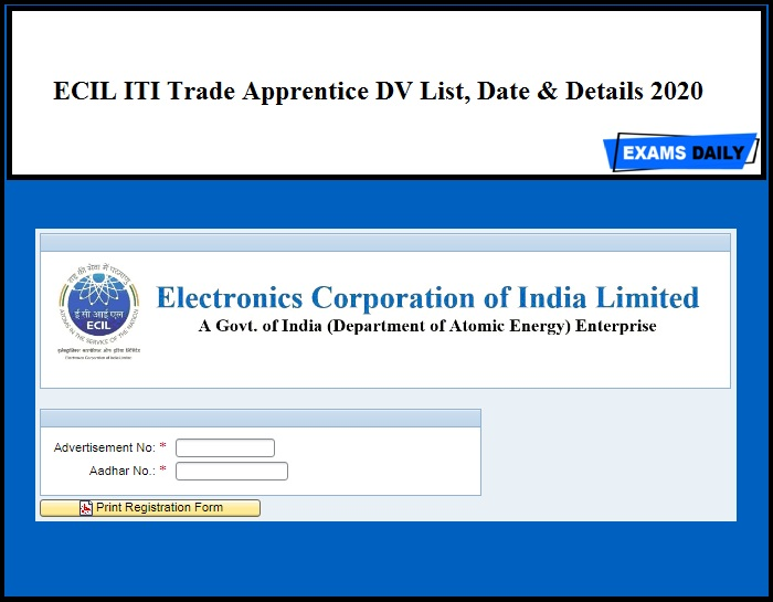ECIL ITI Trade Apprentice Result 2020 Out – Download DV List, Date & Details Here | Link Available