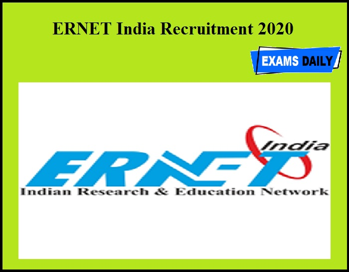 ERNET India Recruitment 2020 OUT