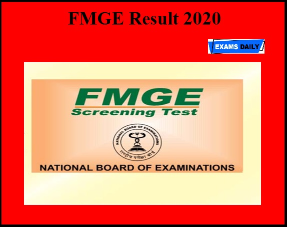 FMGE Result 2020 OUT