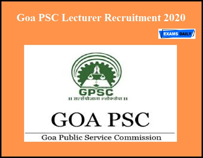 Goa PSC Lecturer Recruitment 2020
