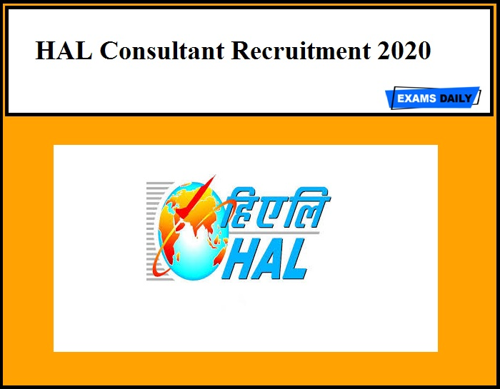 HAL Consultant Recruitment 2020