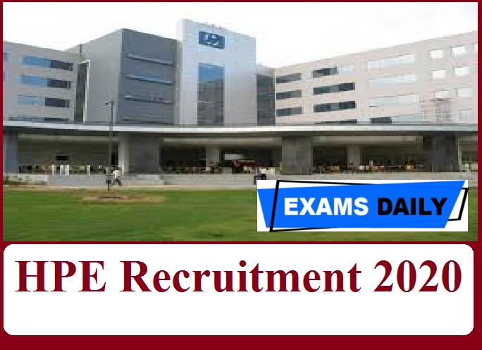 HPE Recruitment 2020 Out – Apply for Software Engineer & Other Vacancies