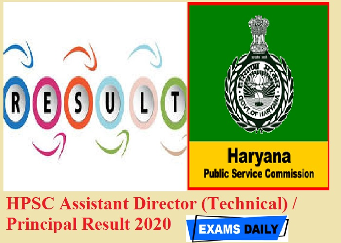 HPSC Assistant Director (Technical) Principal Result 2020