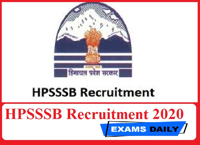 HPSSSB Recruitment 2020 Out – Apply Online for 1661 Jr Office Assistant & Others vacancies!!!!
