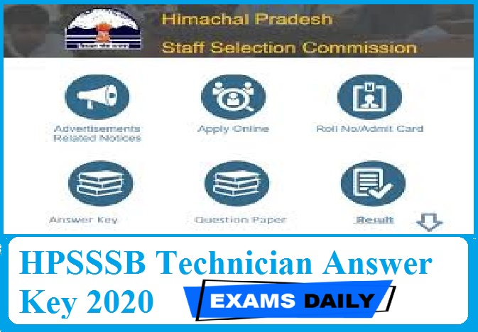 HPSSSB Technician Answer Key 2020 – Check Electrical Solution Key Here!!!