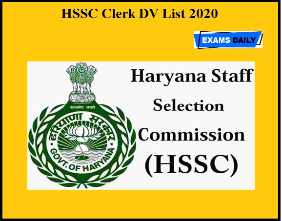 HSSC Clerk DV List 2020 OUT