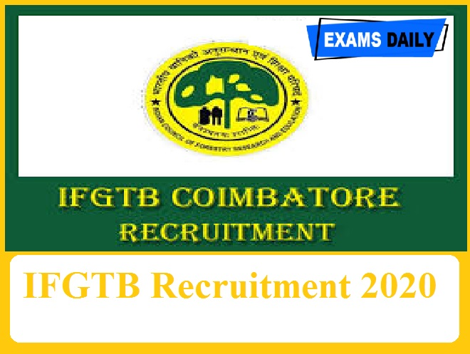 IFGTB Recruitment 2020