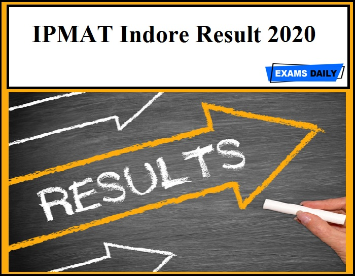 IPMAT Indore Result 2020
