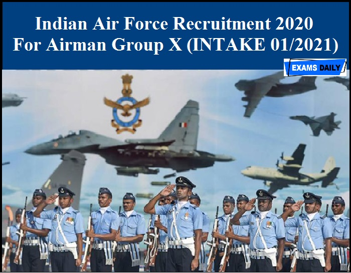Indian Air Force Recruitment 2020 OUT