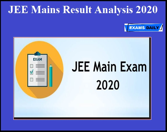 JEE Mains Result Analysis 2020 OUT