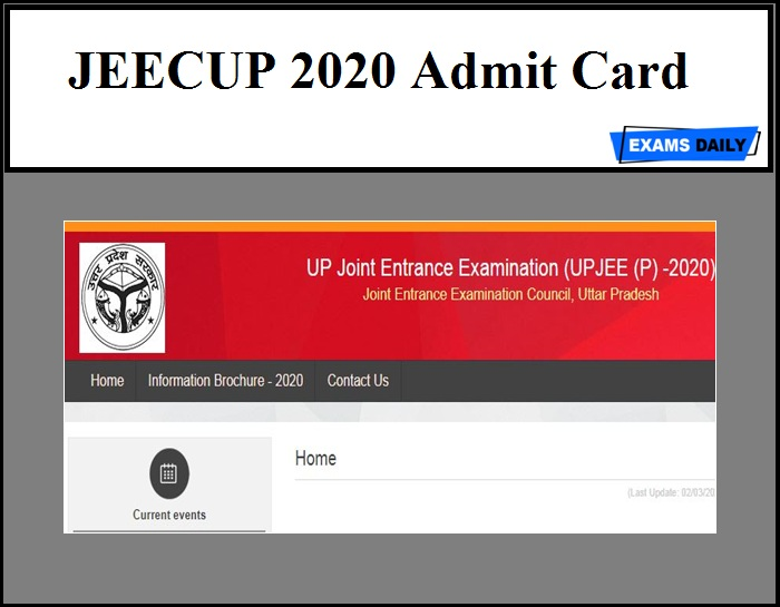 JEECUP 2020 Admit Card – Download UP JEE Exam Date!!