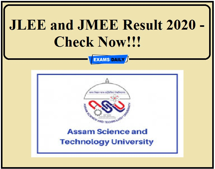 JLEE and JMEE Result 2020 - Check Now!!!