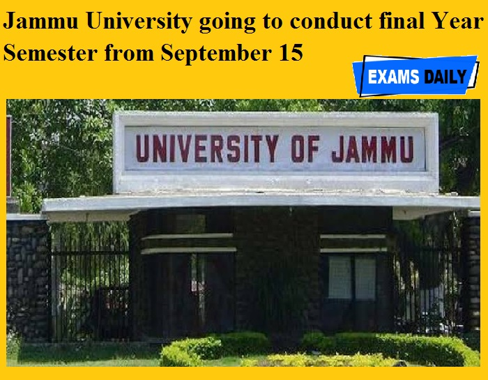 Jammu University going to conduct final Year Semester from September 15