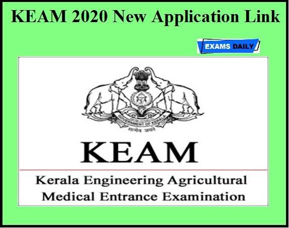 KEAM 2020 New Application Link Available