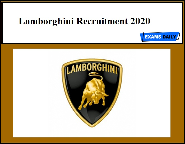 Lamborghini Recruitment 2020
