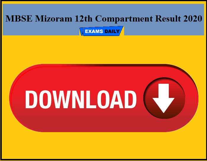 MBSE Mizoram 12th Compartment Result 2020