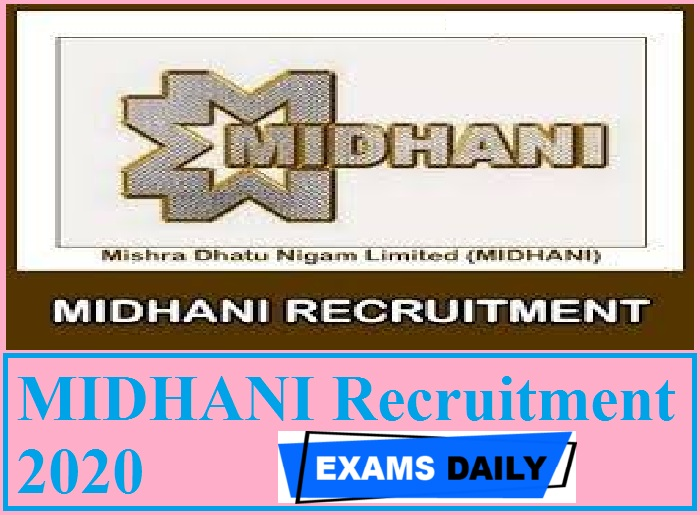 MIDHANI Recruitment 2020 Out – Apply for Assistant Posts Here!!!