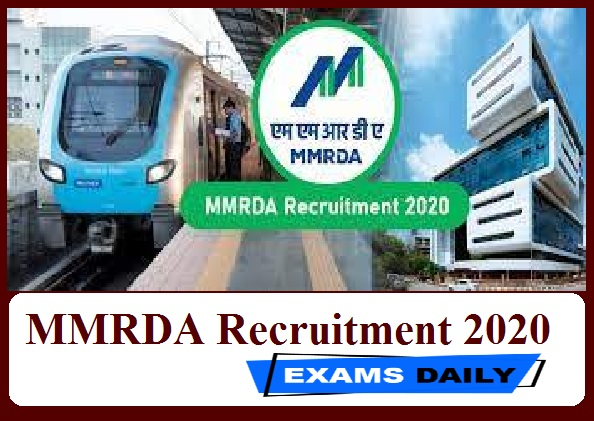 MMRDA Recruitment 2020 Out – Apply for General Manager Posts Here!!!