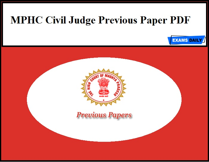 MPHC Civil Judge Previous Paper PDF