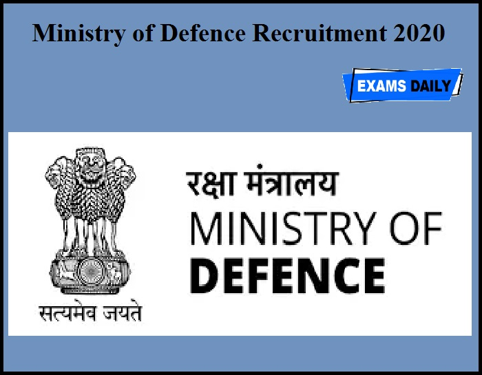 Ministry of Defence Recruitment 2020 OUT