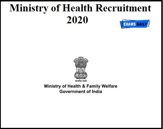 Ministry of Health Recruitment 2020 OUT