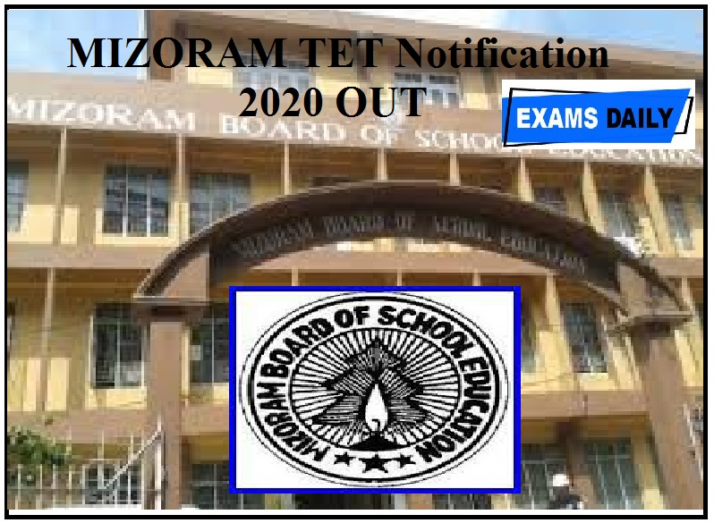 Mizoram TET Notification 2020