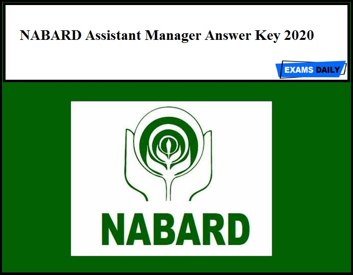NABARD Assistant Manager Answer Key 2020