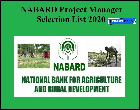 NABARD Project Manager Selection List 2020 OUT