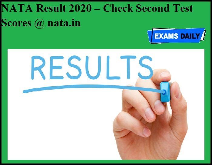 NATA Result 2020 to be announced today – Check Second Test Scores @ nata.in