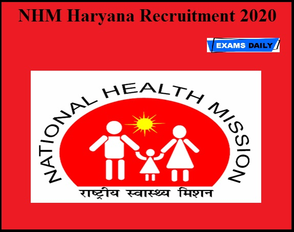 NHM Haryana Recruitment 2020 OUT