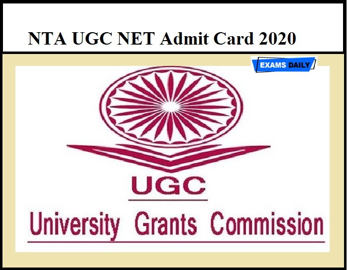 NTA UGC NET Admit Card 2020 – Know Steps to Download