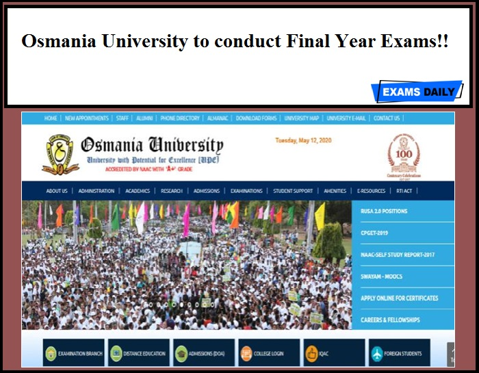 Osmania University to conduct final year exams!!