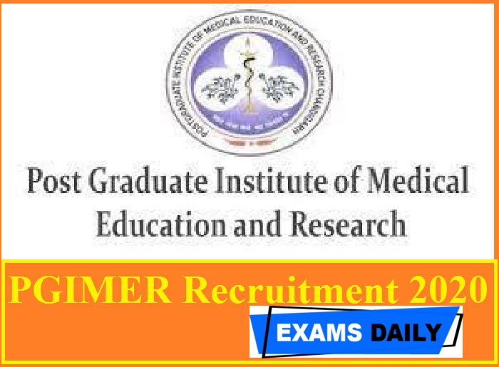 PGIMER Recruitment 2020 Out – Apply Online for 81 Assistant Professor Vacancies Here!!!