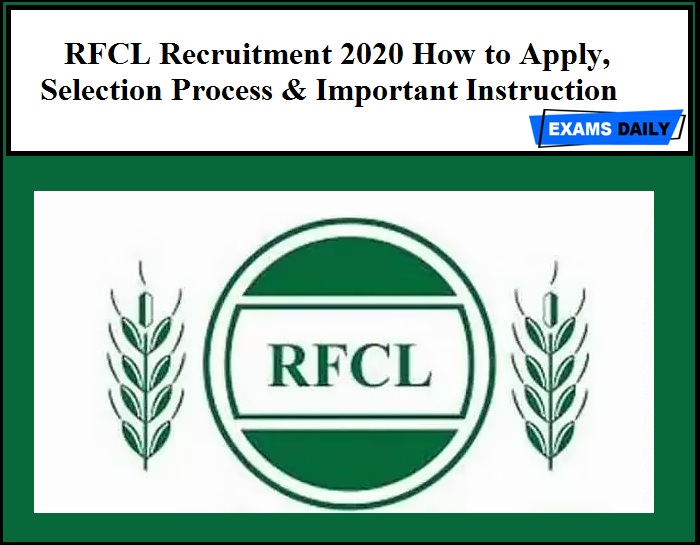 RFCL Recruitment 2020 How to Apply, Selection Process & Important Instruction Given Below. Offline applications are invited from experienced and result oriented professionals for manning the following positions in Ramagundam Fertilizers & Chemicals Limited (RFCL) for filling Manager and Other Post. RFCL Recruitment 2020 how to apply details is given below hurry up and apply for the following posts.