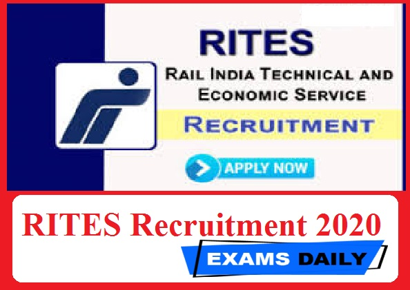 RITES Recruitment 2020 Out – Apply for Jr Manager & Others Here!!!!