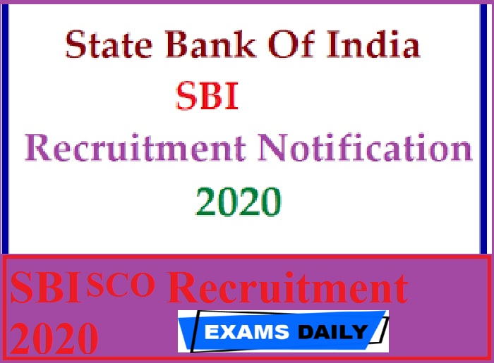 SBI SO Recruitment 2020 Out – Apply Online for Specialist Officer & Others Here