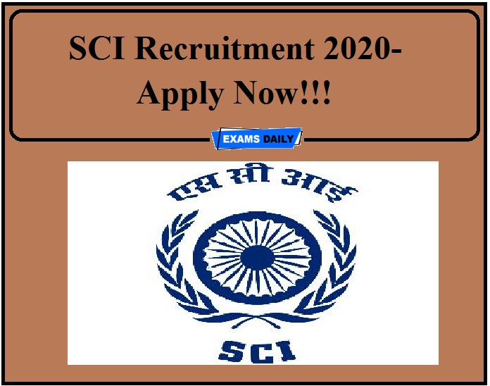 SCI Recruitment 2020- Apply Now!!!