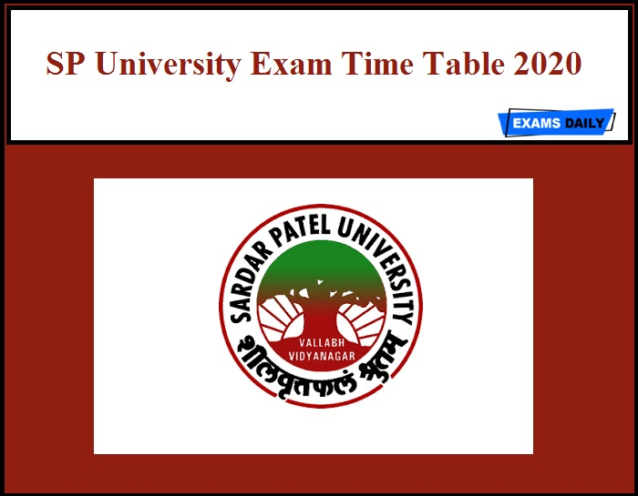 SP University Exam Time Table 2020