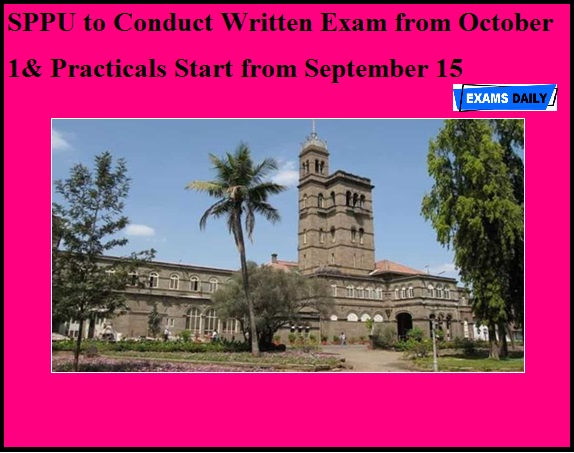 SPPU to Conduct Written Exam from October 1
