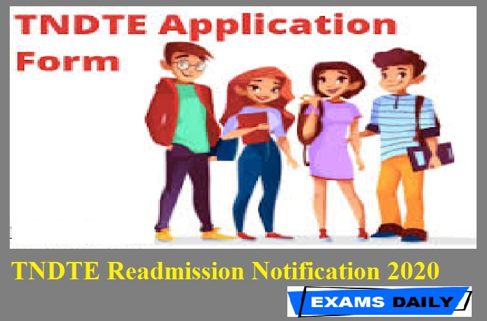 TNDTE Readmission Notification 2020 Out – Download Here || Apply Online Link Here
