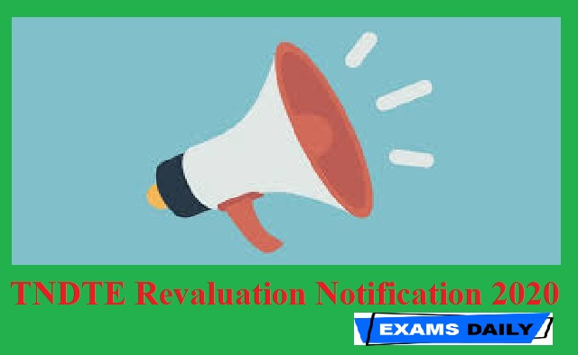 TNDTE Revaluation Notification 2020