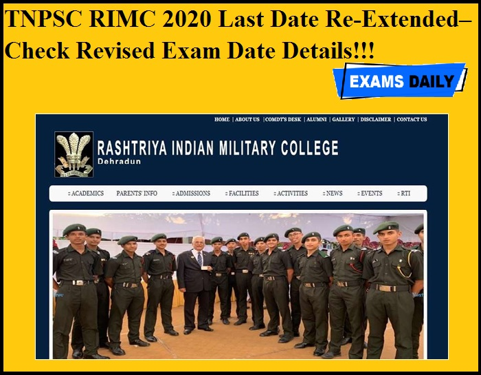 TNPSC RIMC 2020 Last Date Re-Extended– Check Revised Exam Date Details!!!
