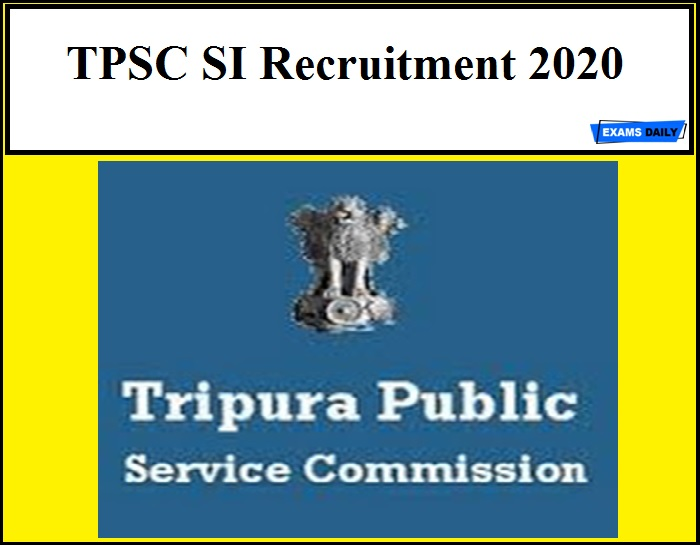 TPSC SI Recruitment 2020