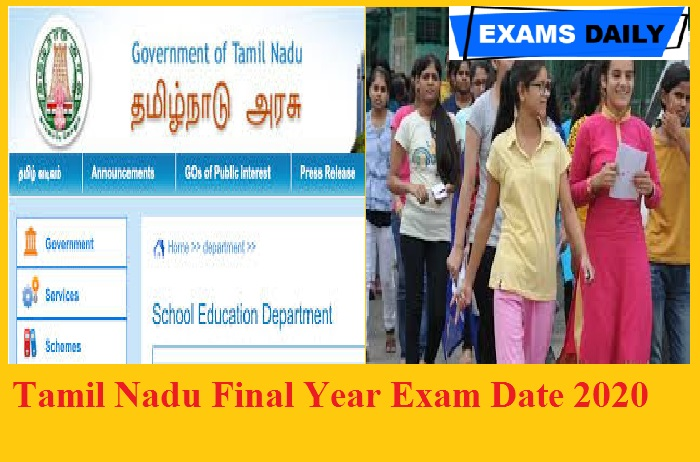 Tamil Nadu Final Year Exam Date 2020 - State to conduct exams after Sept 15 || Tamil Nadu likely to conduct online