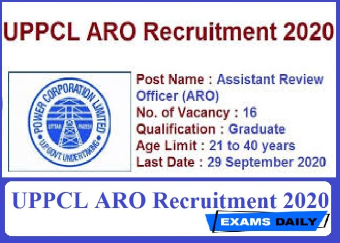 UPPCL ARO Recruitment 2020 Out – Last Date for Apply Online