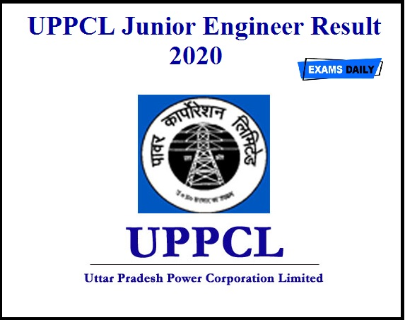 UPPCL Junior Engineer Result 2020 OUT