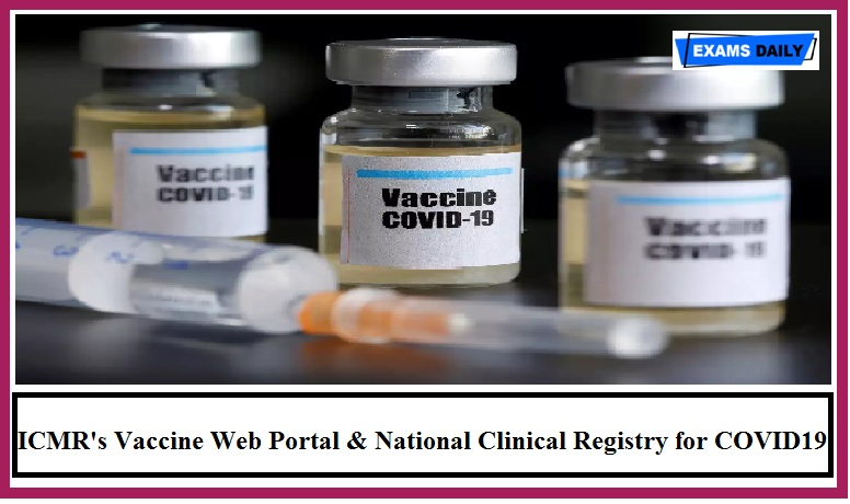 Union Health Minister Harsh Vardhan initiates vaccine portal of ICMR & National Clinical Registry for COVID19