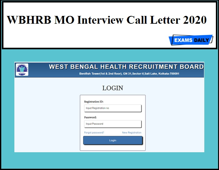 WBHRB MO Interview Call Letter 2020